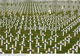 First World War - thousands of war graves