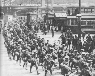 British troops mobilising in Birmingham