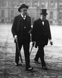 Arthur Balfour with Winston Churchill