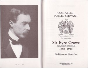 The anti-German Eyre Crowe