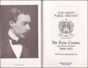 The anti-German Eyre Crowe