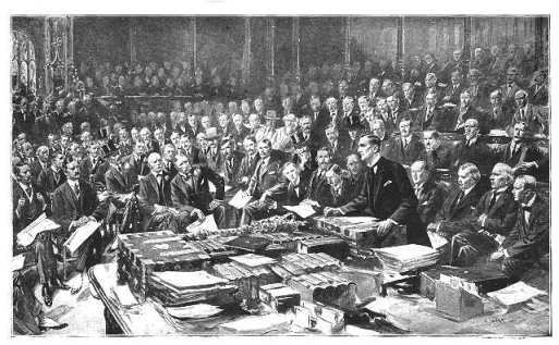 Sir Edward Grey's statement to Parliament took Britain and the Empire into war with Germany.