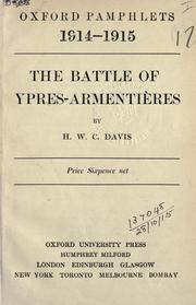 Pamphlet by editor of series H.W.C. Davis - The Battle of Ypres-Armentieres
