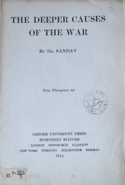 One of the many Oxford University pamphlets quickly produced to justify war.