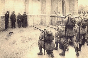 Belgian firing squad of 4 civilians