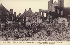 The ruins of Louvain in 1914