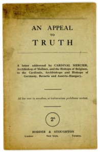 Cardinal Mercier's appeal - An Appeal To Truth