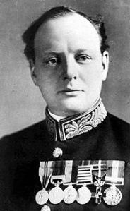 Winston Churchill as a young man