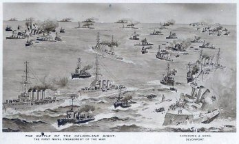 Picture postcard of Battle of Heligoland