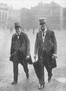 Churchill and Prince Louis of Battenberg