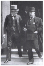 Churchill as First Lord in deep conversation with Lord Fisher