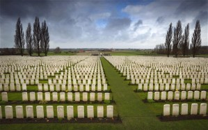 The Allied War Cemetery at Tyne Cot. A small part of the cost of war