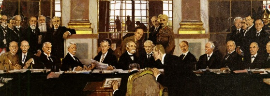 William Orpen's painting of the signing of the Peace Treaty at Versailles