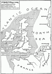 German Submarine Zone February 1915