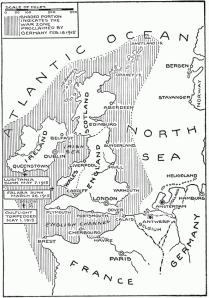 German Submarine Zone February 1915