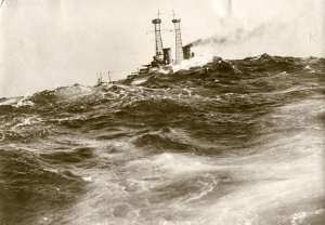 Typical Atlantic swell against which the brave Blockade Force tried to protect Britain.