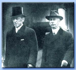 President Wilson (left) with his minder, Edward Mandell House.
