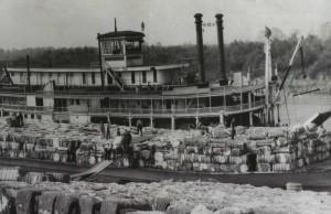 Cotton steamer on the Mississippi