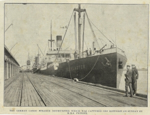 Impounded German merchant ship