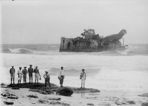 Photo of the wreck of the Emden by Allan Green