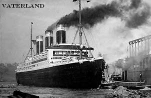 SS Vaterland impounded in America until 1917 when she was renamed the Levithi