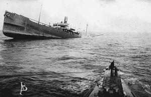 U Boat Sinks Merchant Ship