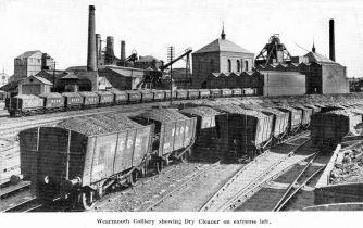 Colliery on Wearside showing trucks full of coal