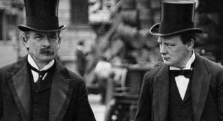 Lloyd George and Winston Churchill