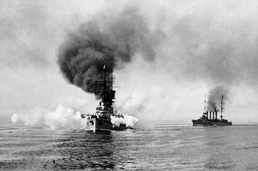 Goeben and Breslau entering the Dardanelles