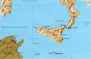 Straits of Messina - Note how easily it could have been blocked