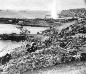 Anzac Cove after the bloody landings