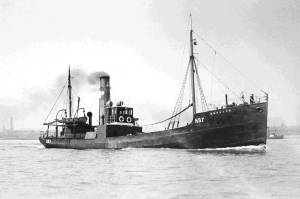 British trawler of type requisitioned in 1914 for war work