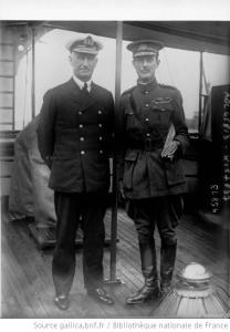 Vice-Admiral De Robek and Sir Ian Hamilton