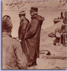 General d'Amade on the beach at Gallipoli