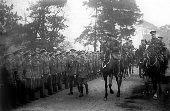 King George V inspecting 29th Division at Dunchurch March 1915