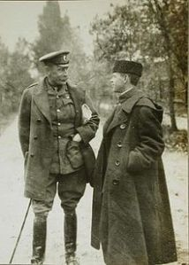 Sir John Hanbury-Williams (left) Head of the British military Mission in Russia.
