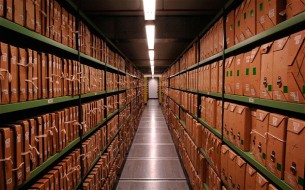 The archives at Kew in London. Many documents have been removed or 'lost'.