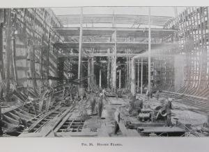 lusitania in construction
