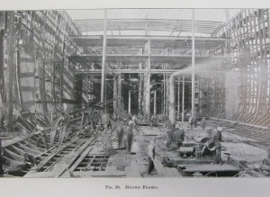 lusitania in construction