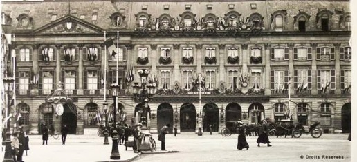 Ritz Hotel Paris, Churchill's hideaway during the sinking of the Lusitania
