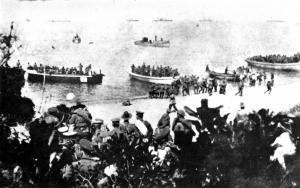 Suvla Bay landing August 1915