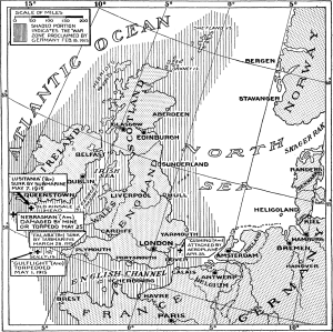 U-Boat areas 1915