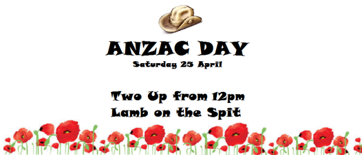 Contemporary ANZAC poster 2015.  And a good day will be had by all?