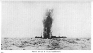 torpedoed merchant ship WW1