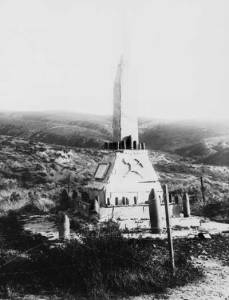 Turkish Memorial at Lone Pine erected after the Allied withdrawal in December 1915
