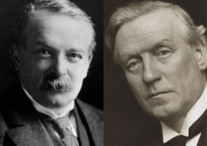 Lloyd George (Left) and Herbert Asquith