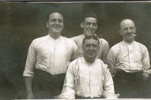 Relieved lusitania crew survivors in happier times