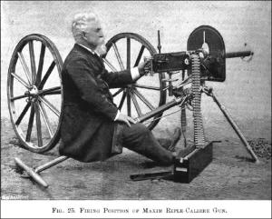 Vickers maxim gun promotional  photograph