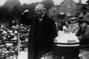 David Lloyd George at his best; an orator who revelled in addressing great crowds.