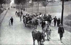 Belgian refugees fleeing the German army in 1914